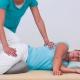 Shiatsu Behandlung - in Seitenlage